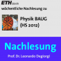 Nachlesung Physik BAUG (HS12) - M4A Podcast Download