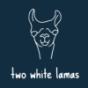 Two white Lamas