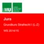 LMU Grundkurs Strafrecht I (L-Z) WS 2014-15 Podcast Download