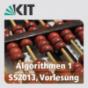 Algorithmen 1, SS2013, Vorlesung Podcast Download