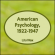 American Psychology, 1922-1947 by Various