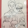 Familie im Gehege