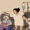 Drei Patientinnen unter einer Decke