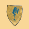 Pergament und Mikrofon