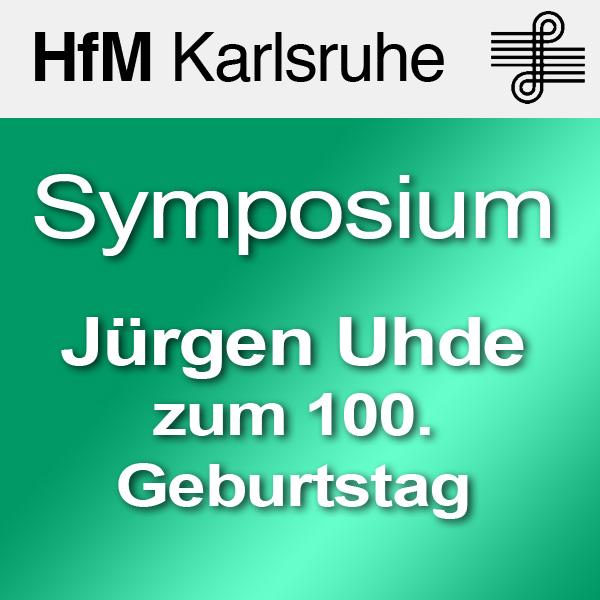 Angewandtes musikalisches Denken: Jürgen Uhde zum 100. Geburtstag - SD