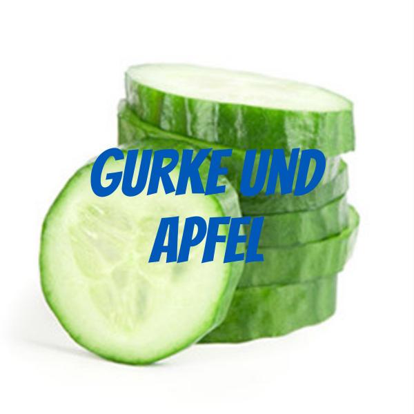 Gurke und Apfel