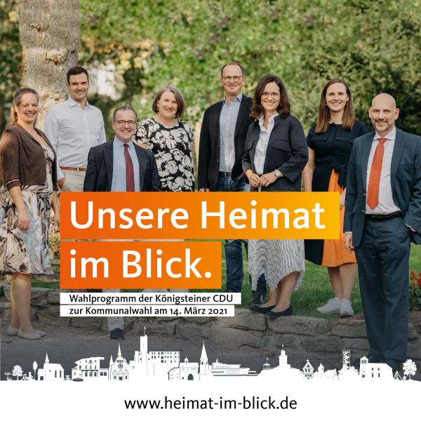 Unsere Heimat im Blick |Das Wahlprogramm der Königsteiner CDU