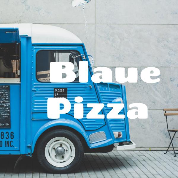 Blaue Pizza