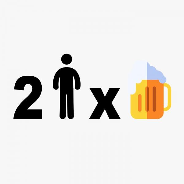 2 Mann x Bier