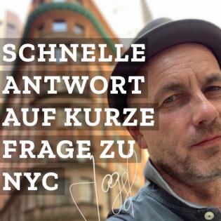Joggels schnelle Antwort auf eine kurze Frage zu New York