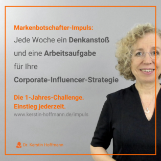 Markenbotschafter-Impuls: 1-Jahres-Challenge für die erfolgreiche Corporate-Influencer-Strategie