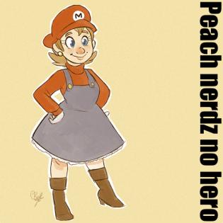 Peach nerdz no hero