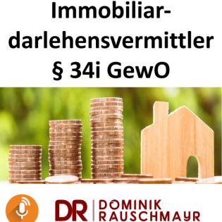 Immobiliardarlehensvermittler 34i Prüfungsvorbereitung