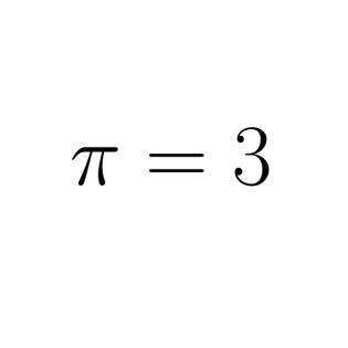 Pi ist genau 3