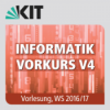 Informatik Vorkurs V4, Vorlesung, WS 2016/17, 28.09.2016, 08