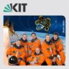 Greeting the astronauts (Begrüßung) - KIT-Astronautentag - Die Space-Shuttle-Mannschaft im Audimax des KIT