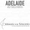 Adelaide (Matthison / Beethoven) - normal speaking tempo