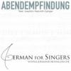 Abendempfindung (Campe / Mozart) - normal speaking tempo