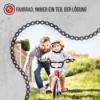 Kinder und Radfahren