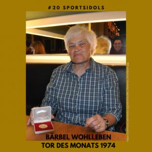 #20 Bärbel Wohlleben, Tor des Monats 1974