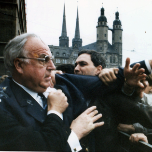 10.5.1991: Eierwürfe auf Helmut Kohl