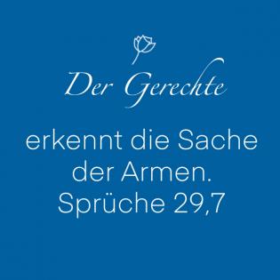 Sprüche 29, 7