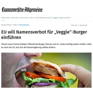 Folge 4 - Und weil das Wort Sojamilch die Verbraucher verwirrt, sollen Veggie-Burger bald Veggie-Discs heißen