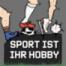 Dicke Männer im Deutschland-Trikot