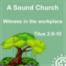 Titus 2,9-10 | Eine gesunde Gemeinde: Zeuge am Arbeitsplatz